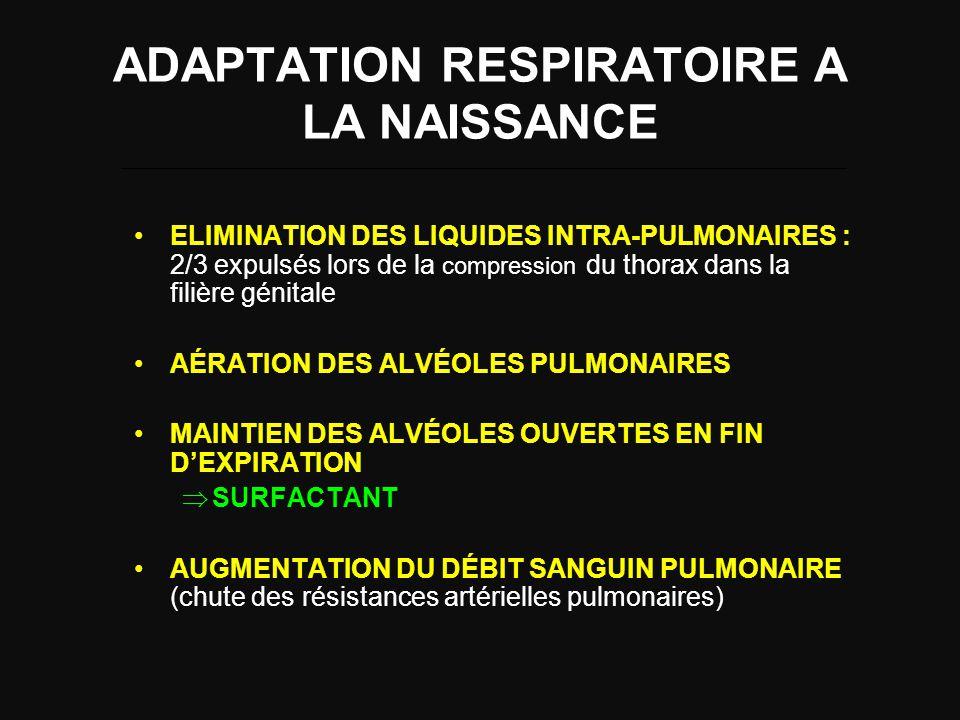 ADAPTATION RESPIRATOIRE A LA NAISSANCE