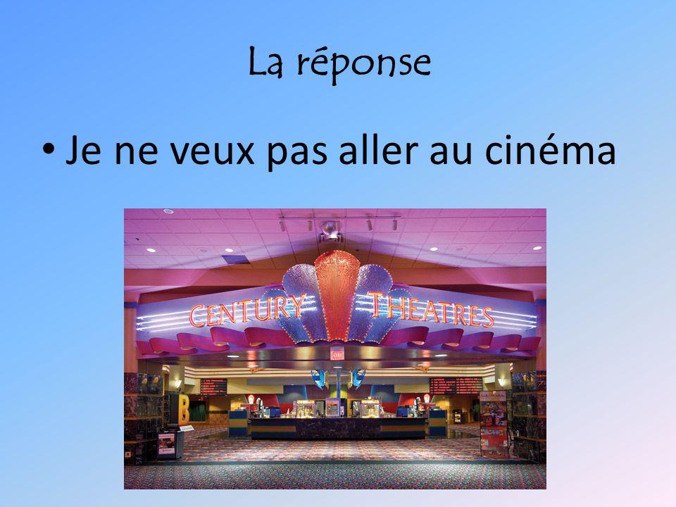 Je ne veux pas aller au cinéma