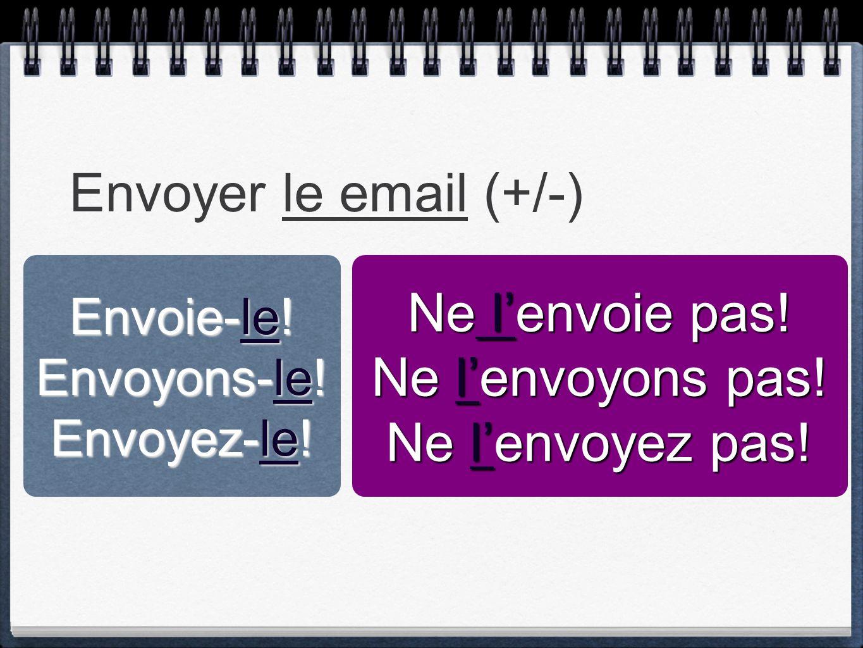 Envoyer le email (+/-) Ne l'envoie pas! Ne l'envoyons pas!