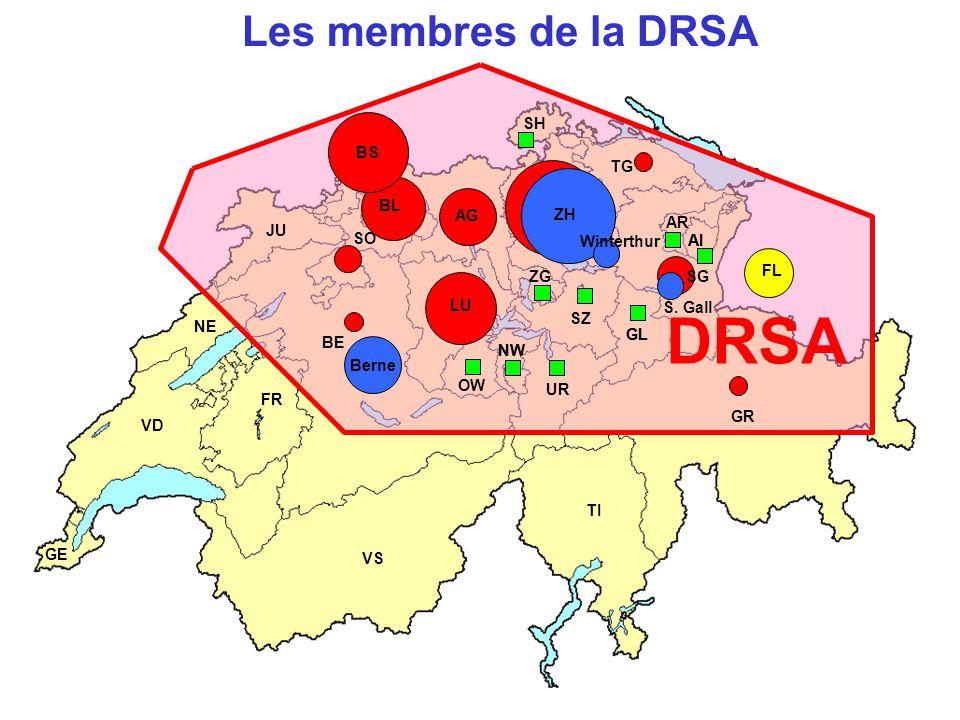 DRSA Les membres de la DRSA BS SH BS TG BL AG ZH AR JU SO Winterthur