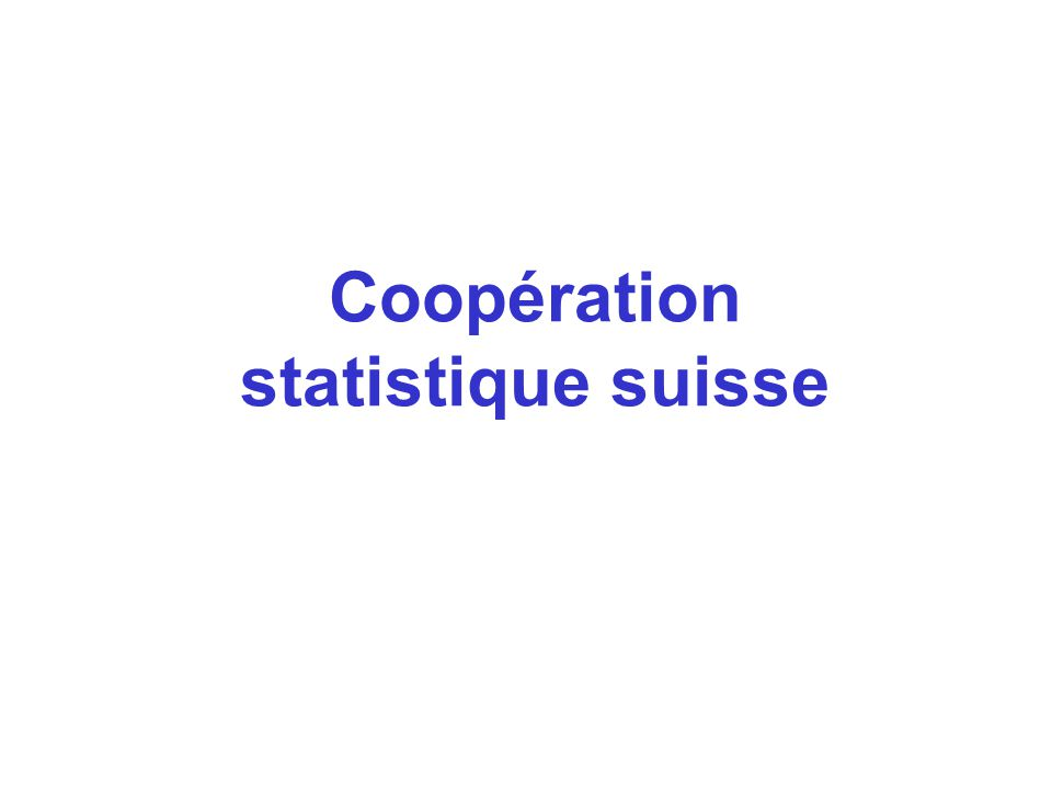 Coopération statistique suisse