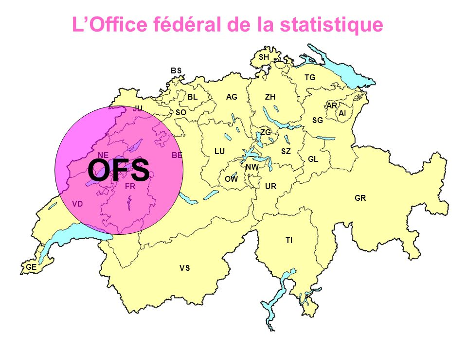OFS L'Office fédéral de la statistique SH BS TG BL AG ZH AR JU SO AI