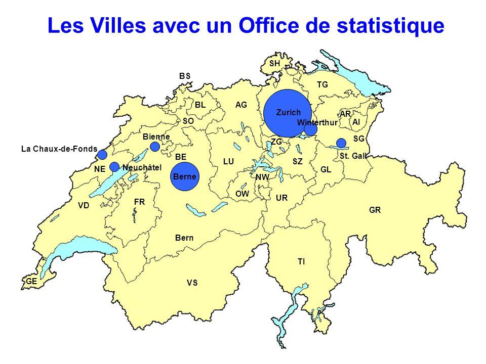 Les Villes avec un Office de statistique