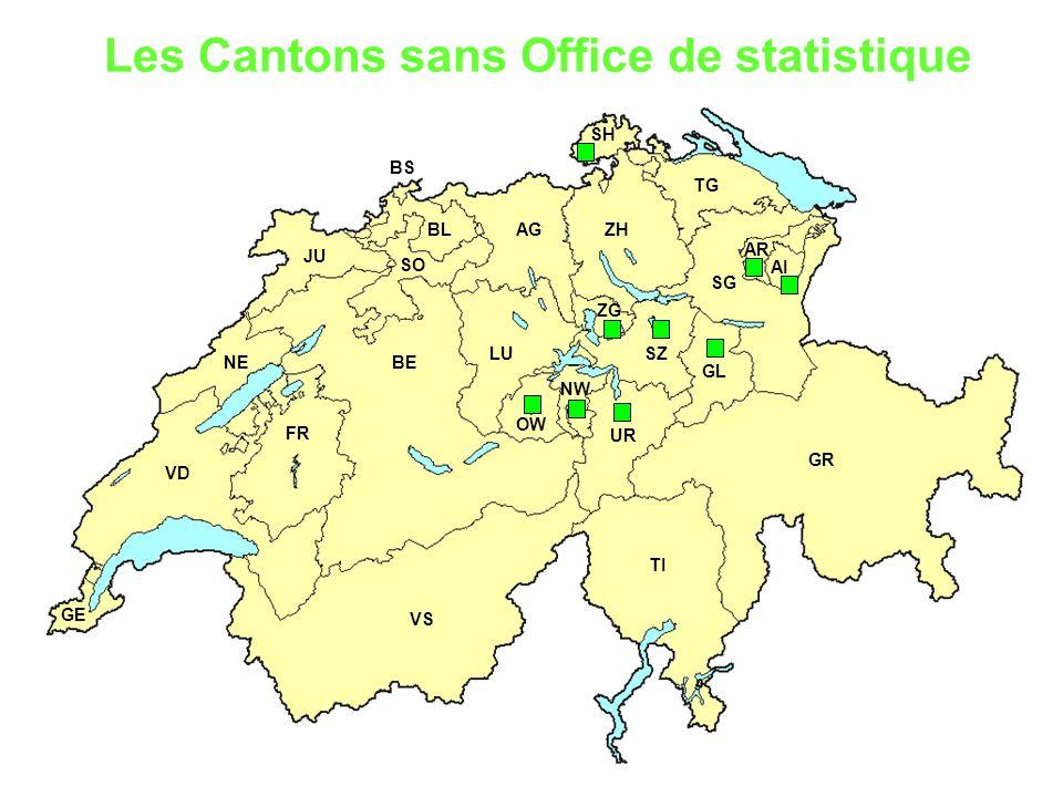 Les Cantons sans Office de statistique
