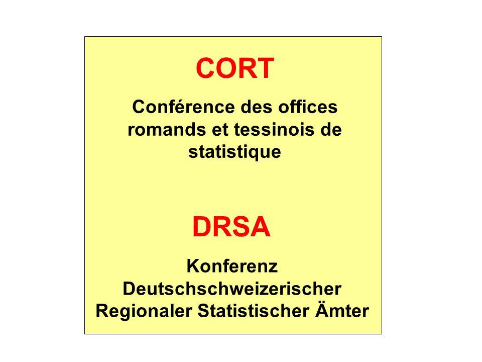 CORT DRSA Conférence des offices romands et tessinois de statistique