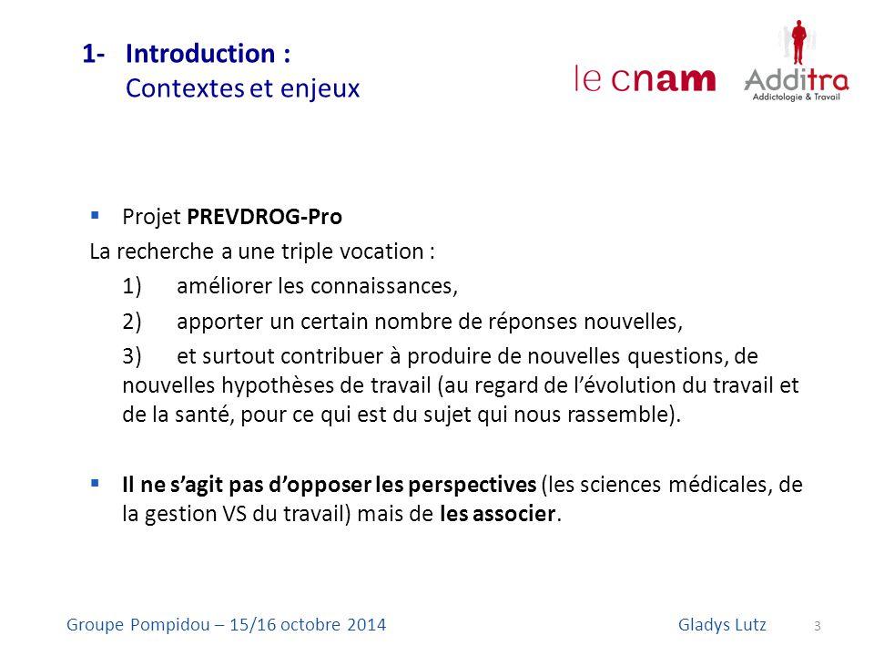 1- Introduction : Contextes et enjeux