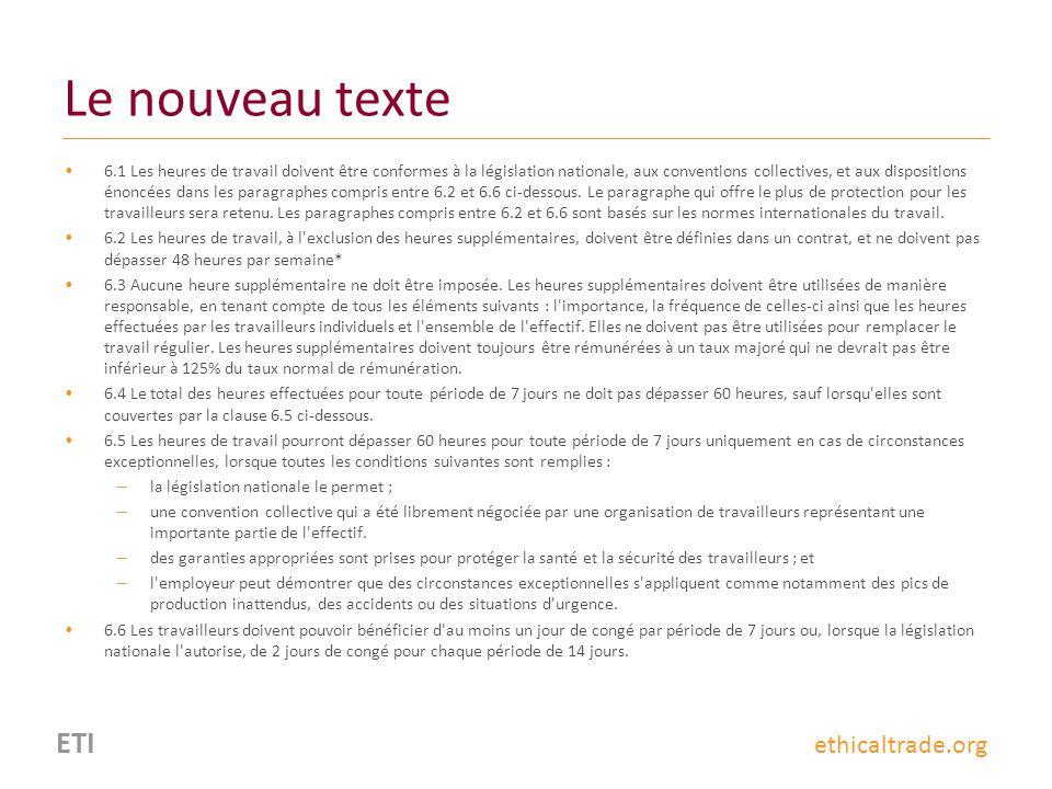 Le nouveau texte ETI ethicaltrade.org