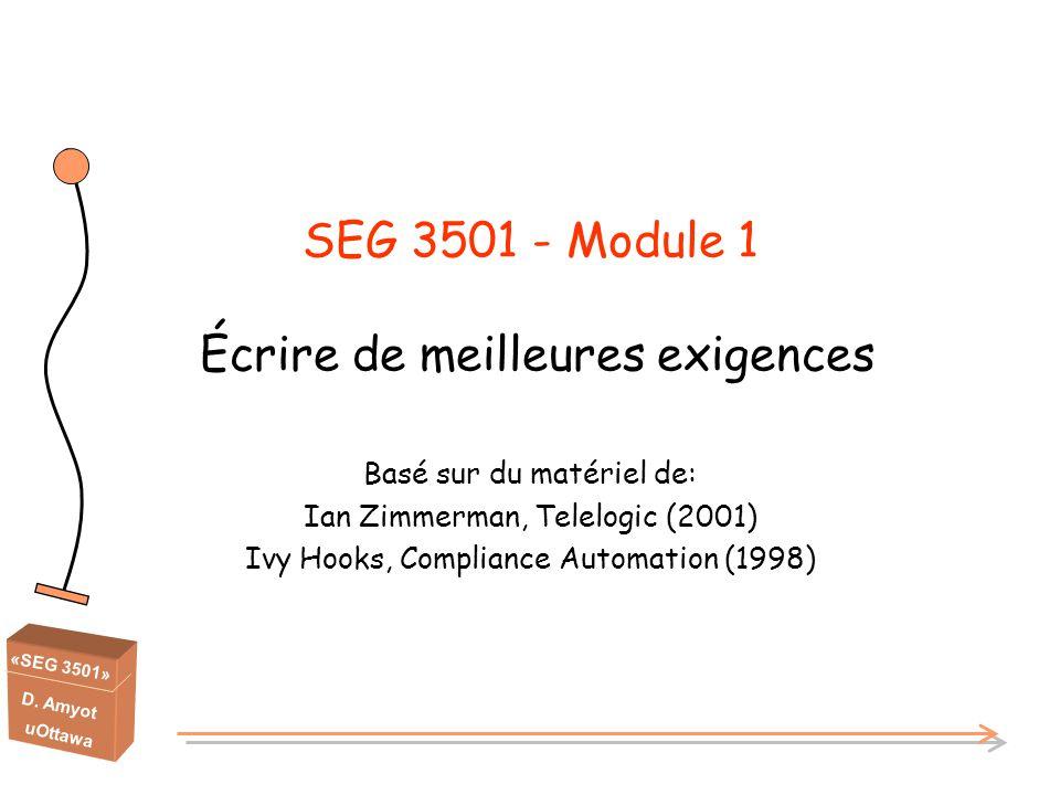 SEG 3501 - Module 1 Écrire de meilleures exigences