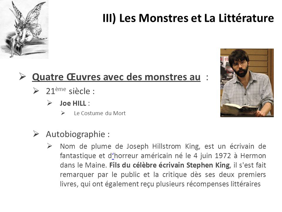 III) Les Monstres et La Littérature