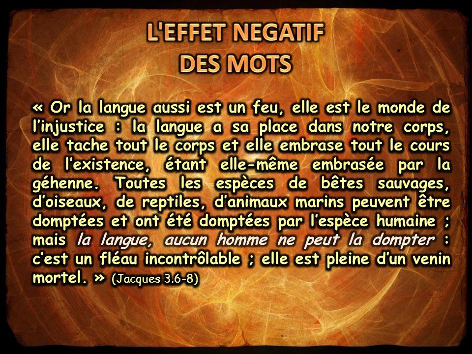 L EFFET NEGATIF DES MOTS