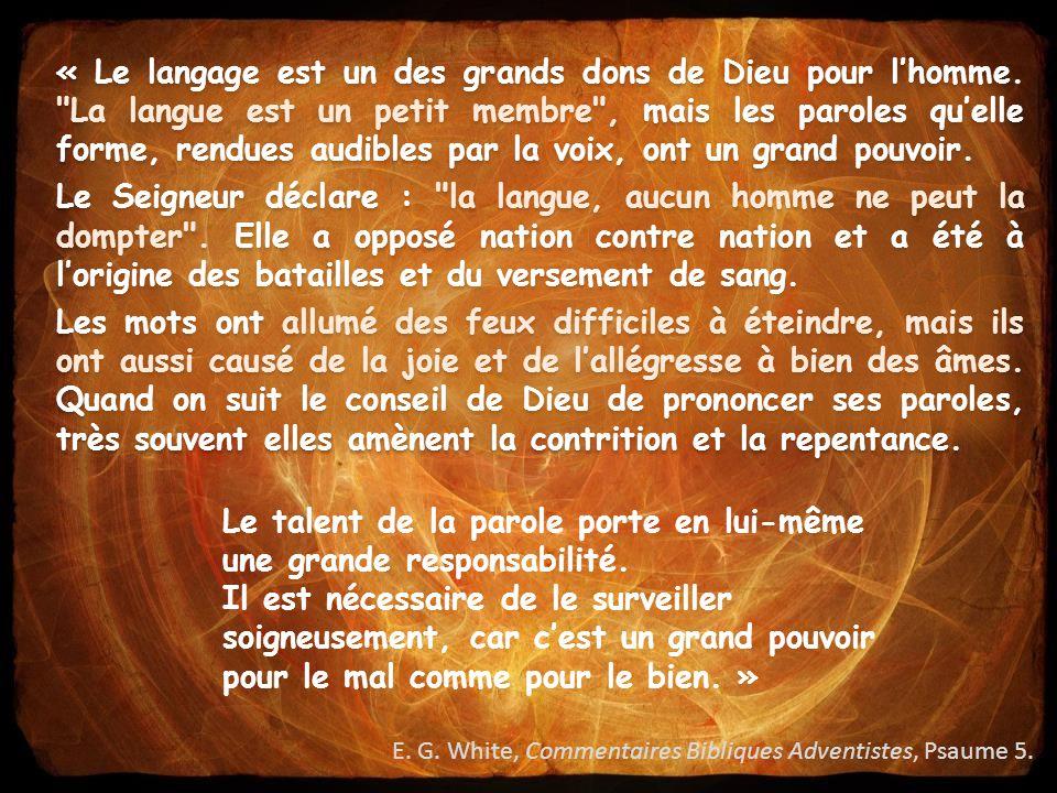« Le langage est un des grands dons de Dieu pour l'homme