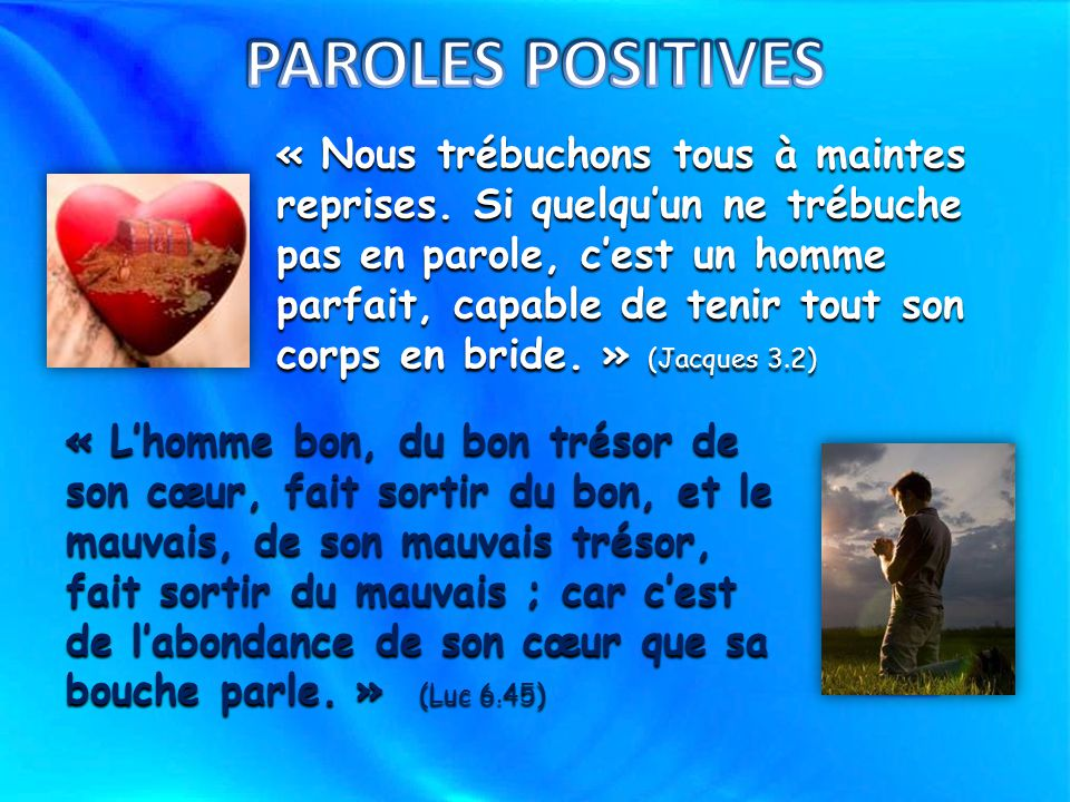 PAROLES POSITIVES