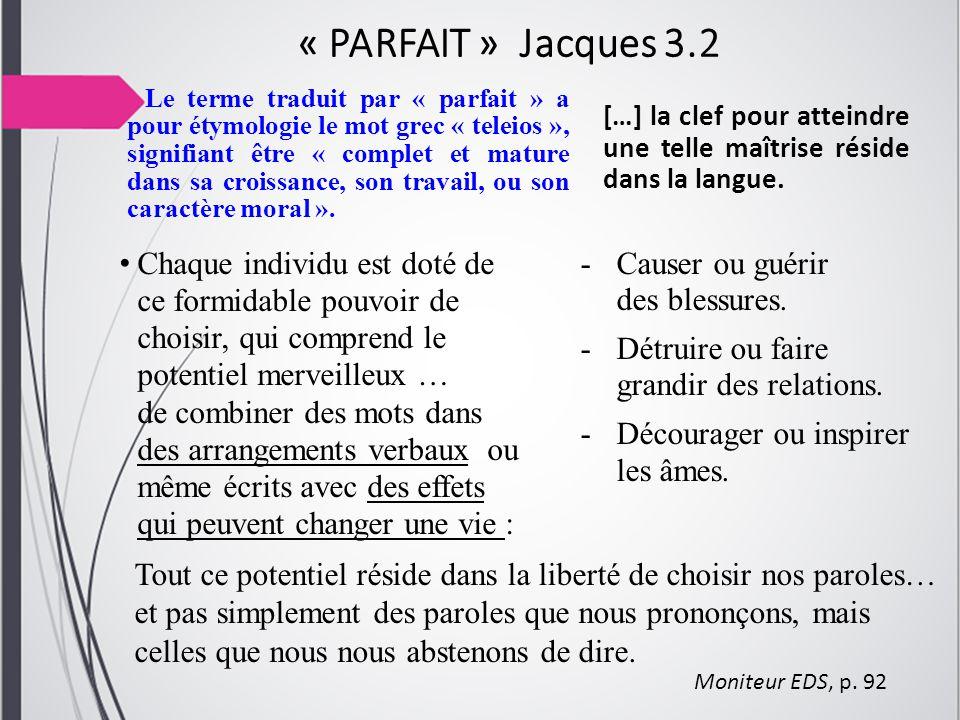 « PARFAIT » Jacques 3.2