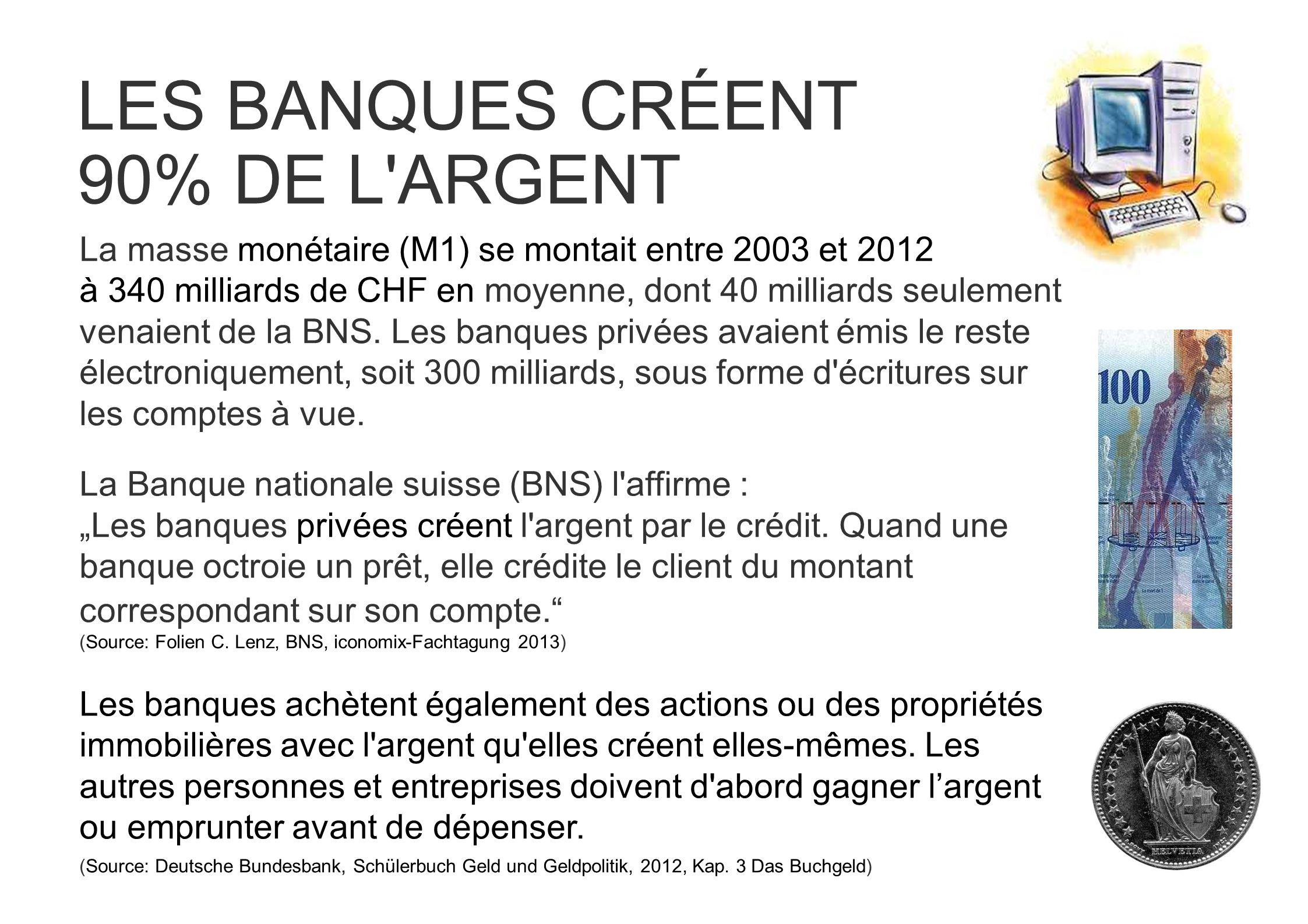 LES BANQUES CRÉENT 90% DE L ARGENT