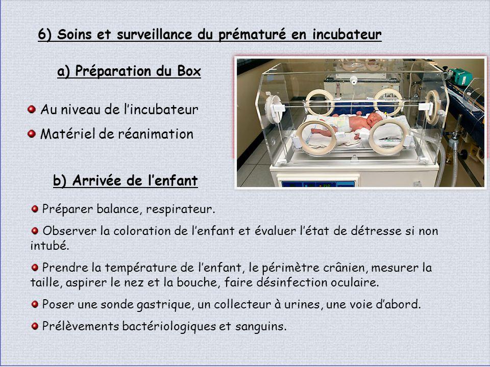 6) Soins et surveillance du prématuré en incubateur