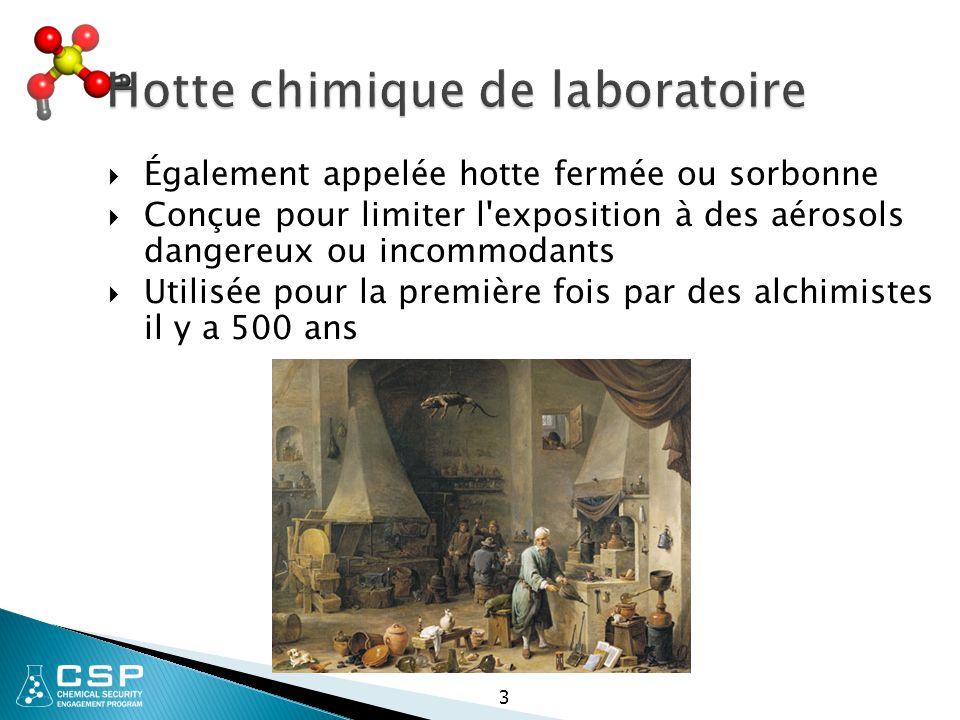 Hotte chimique de laboratoire