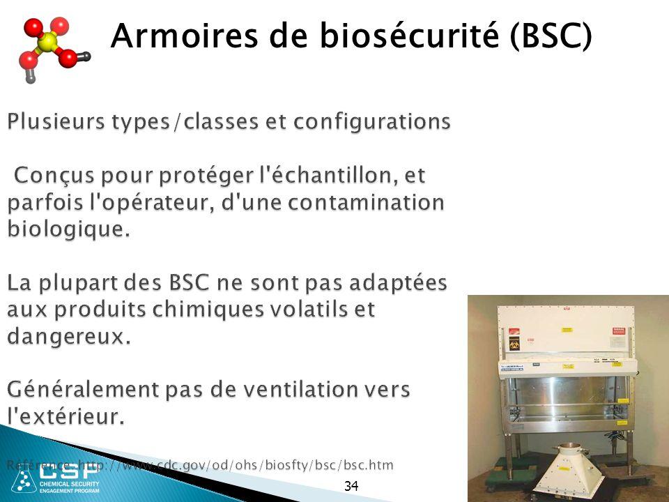 Armoires de biosécurité (BSC)