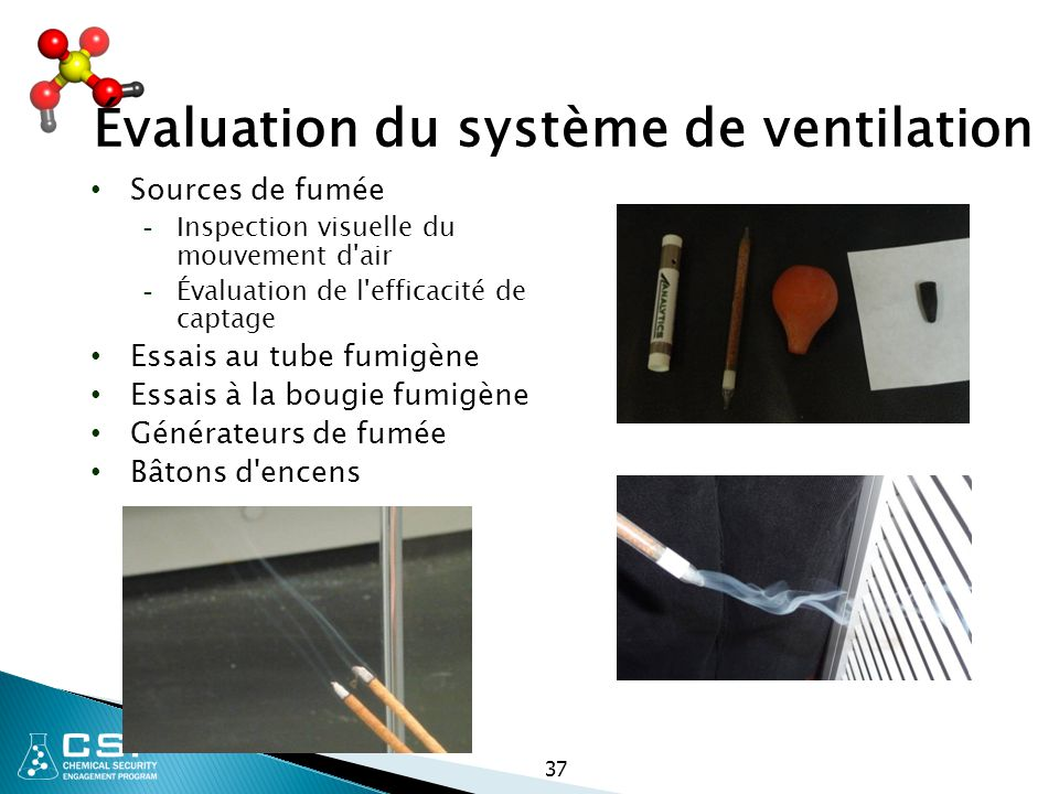 Évaluation du système de ventilation