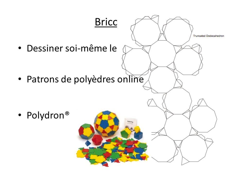 Bricolage Dessiner soi-même les patrons Patrons de polyèdres online