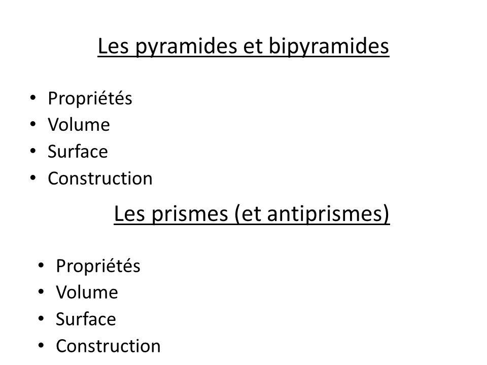 Les pyramides et bipyramides