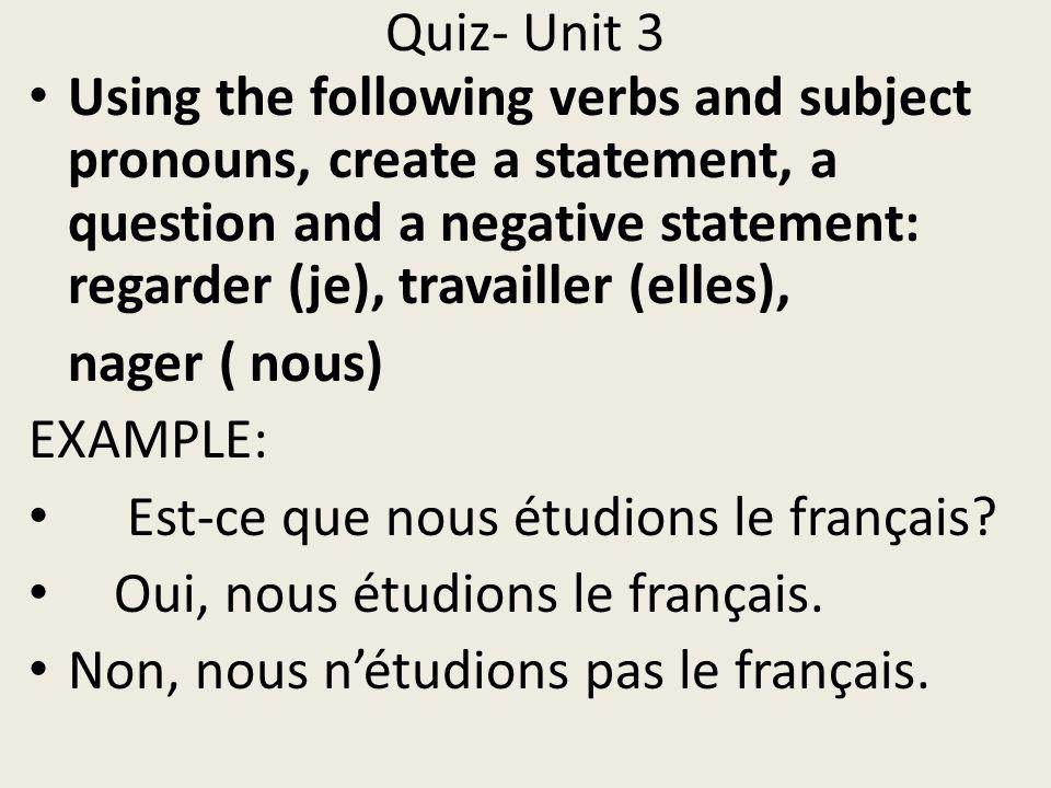 Quiz- Unit 3