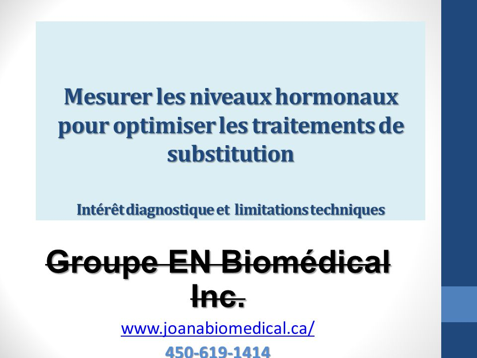 Groupe EN Biomédical Inc. www.joanabiomedical.ca/ 450-619-1414