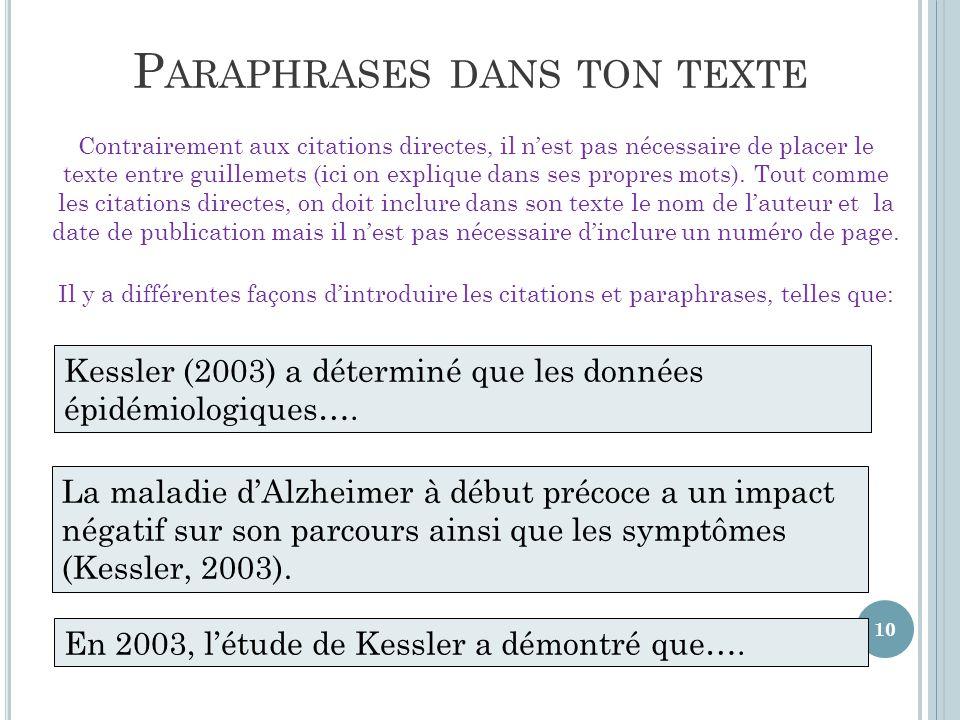 Top Méthode/Style APA: Citations et références bibliographiques - ppt  CZ38