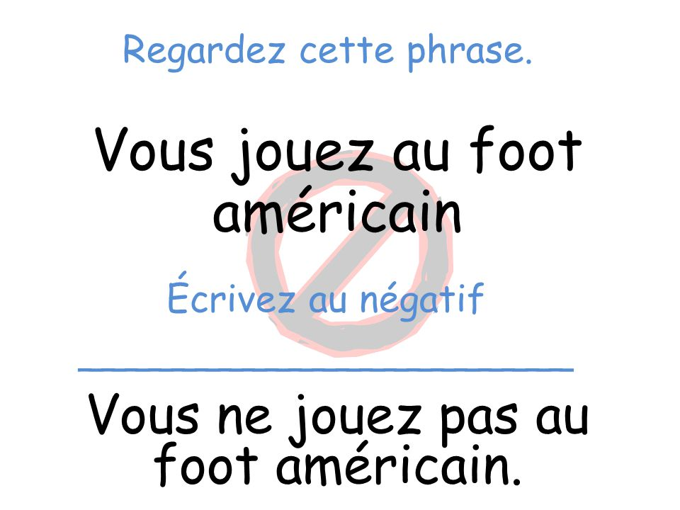 Vous jouez au foot américain