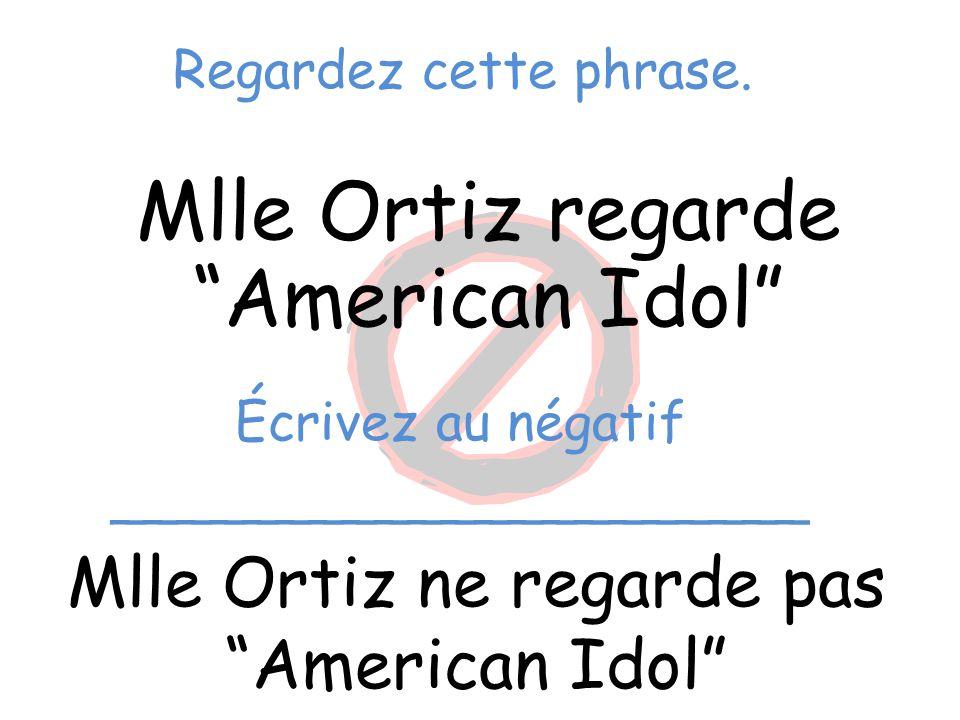 Mlle Ortiz regarde American Idol