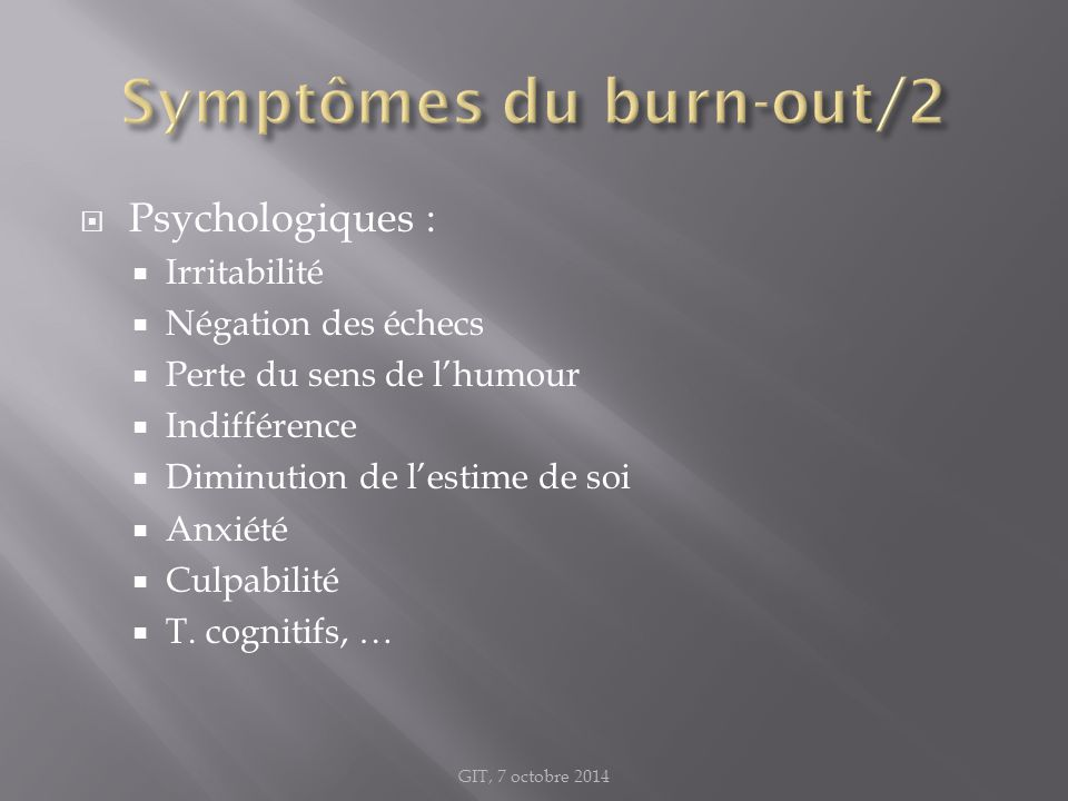 Symptômes du burn-out/2