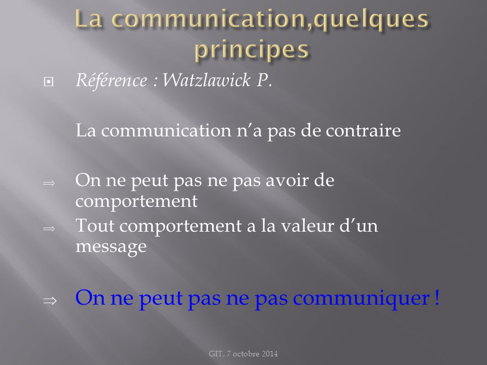La communication,quelques principes