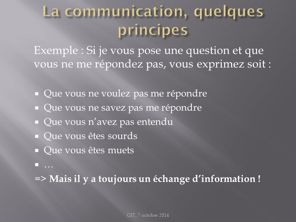 La communication, quelques principes
