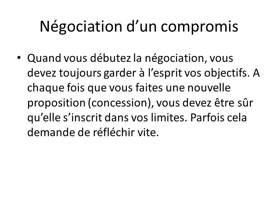 Négociation d'un compromis