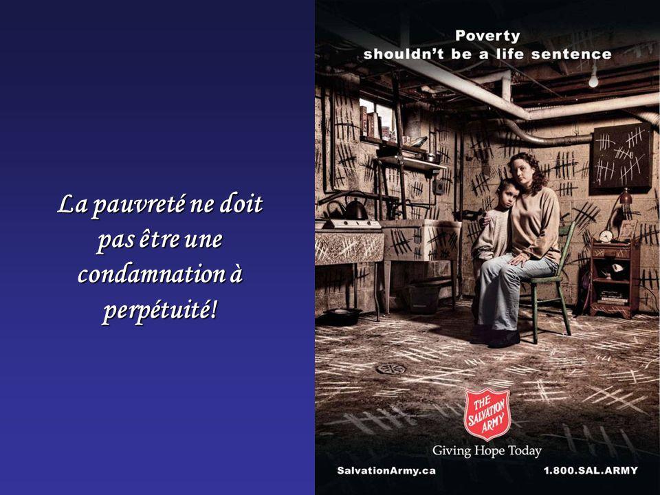 La pauvreté ne doit pas être une condamnation à perpétuité!