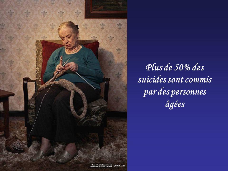 Plus de 50% des suicides sont commis par des personnes âgées