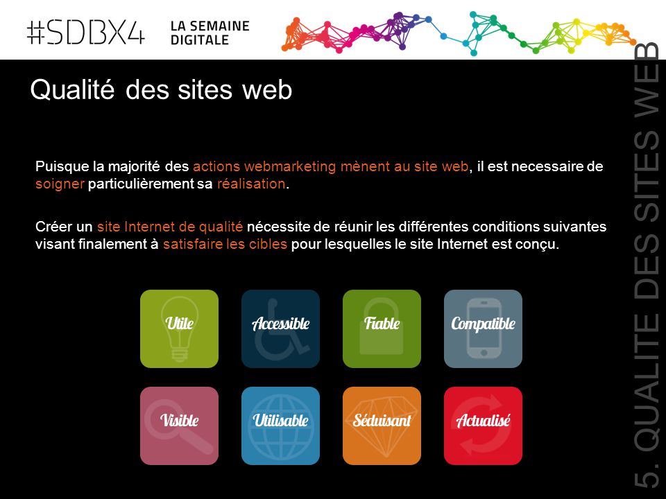 5. QUALITE DES SITES WEB Qualité des sites web