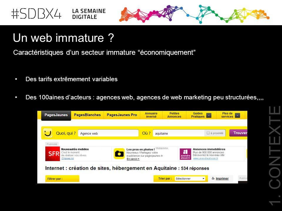 1. CONTEXTE Un web immature