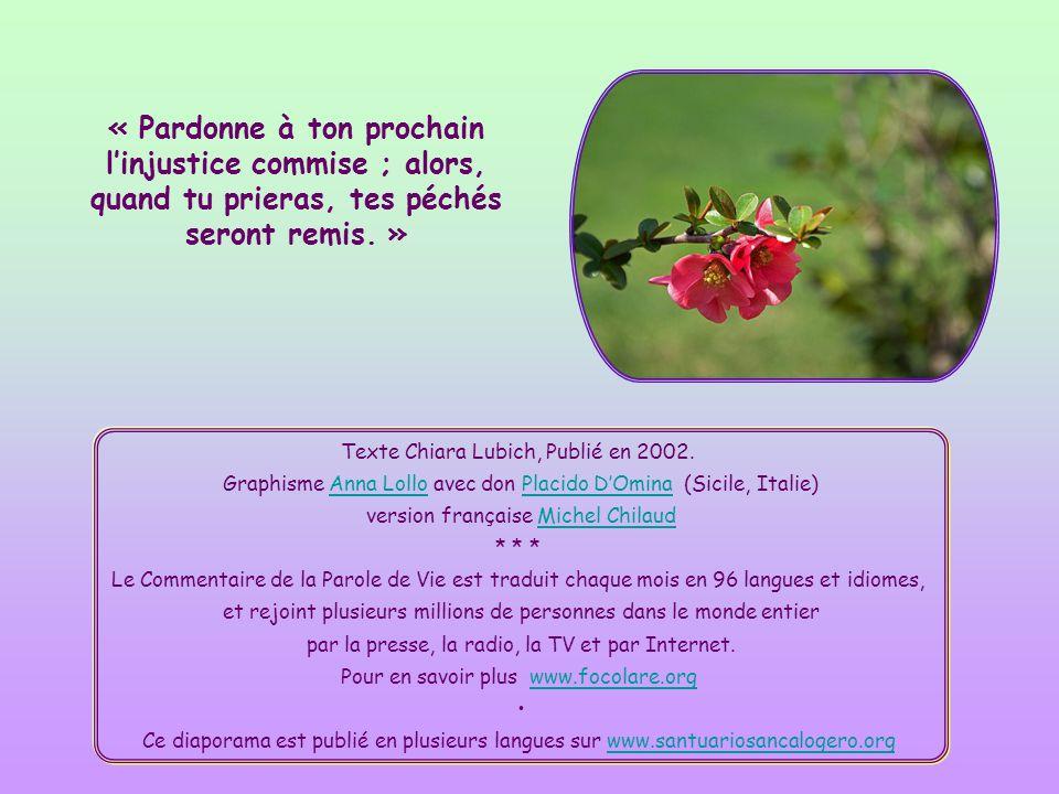 Texte Chiara Lubich, Publié en 2002.
