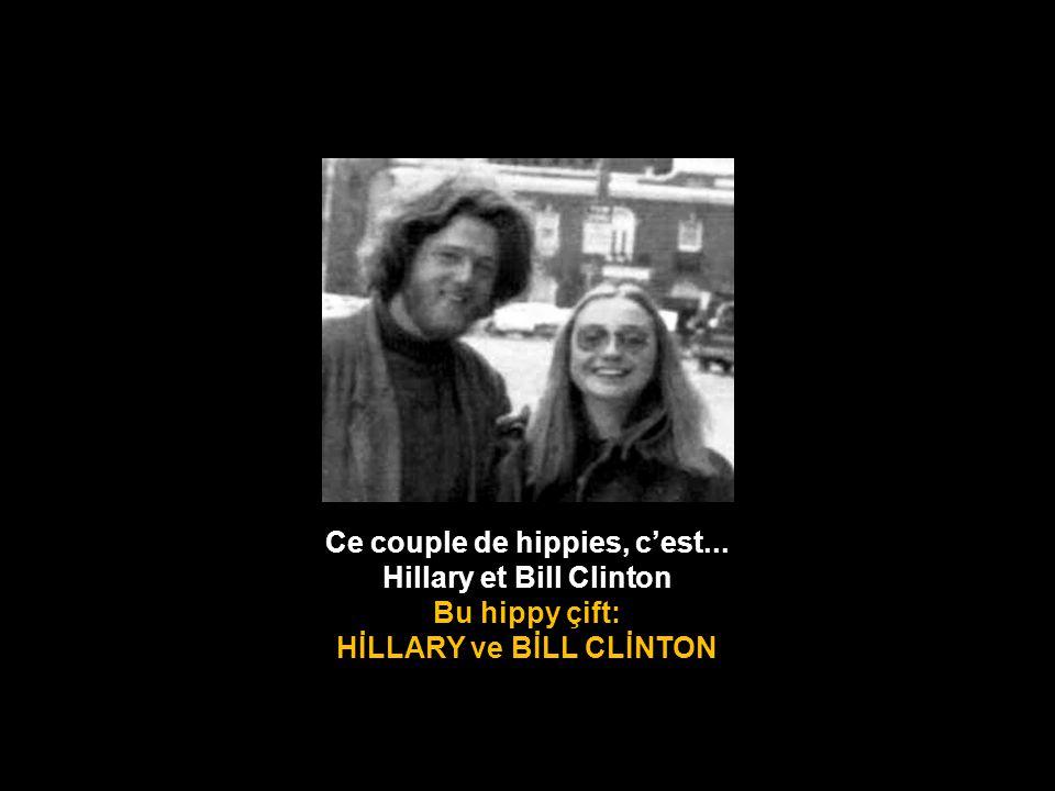 Ce couple de hippies, c'est... Hillary et Bill Clinton Bu hippy çift: