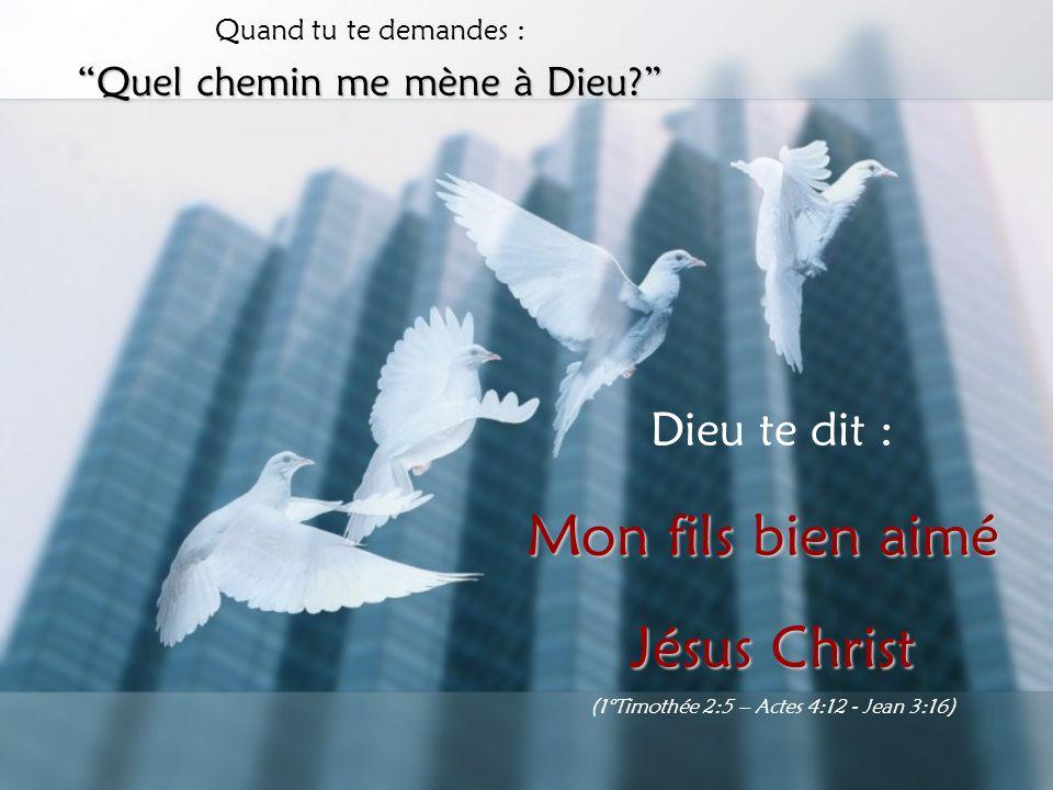 Mon fils bien aimé Jésus Christ Dieu te dit :