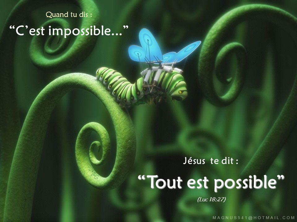 Tout est possible C'est impossible... Jésus te dit :