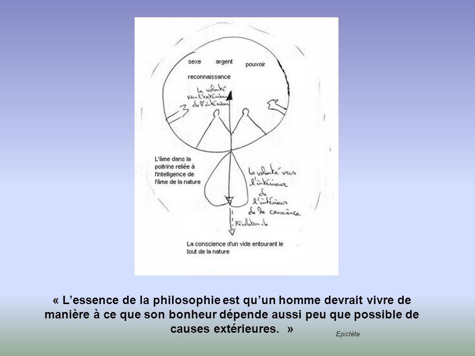 « L'essence de la philosophie est qu'un homme devrait vivre de manière à ce que son bonheur dépende aussi peu que possible de causes extérieures. »