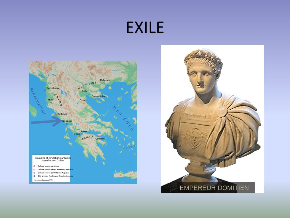 EXILE EMPEREUR DOMITIEN