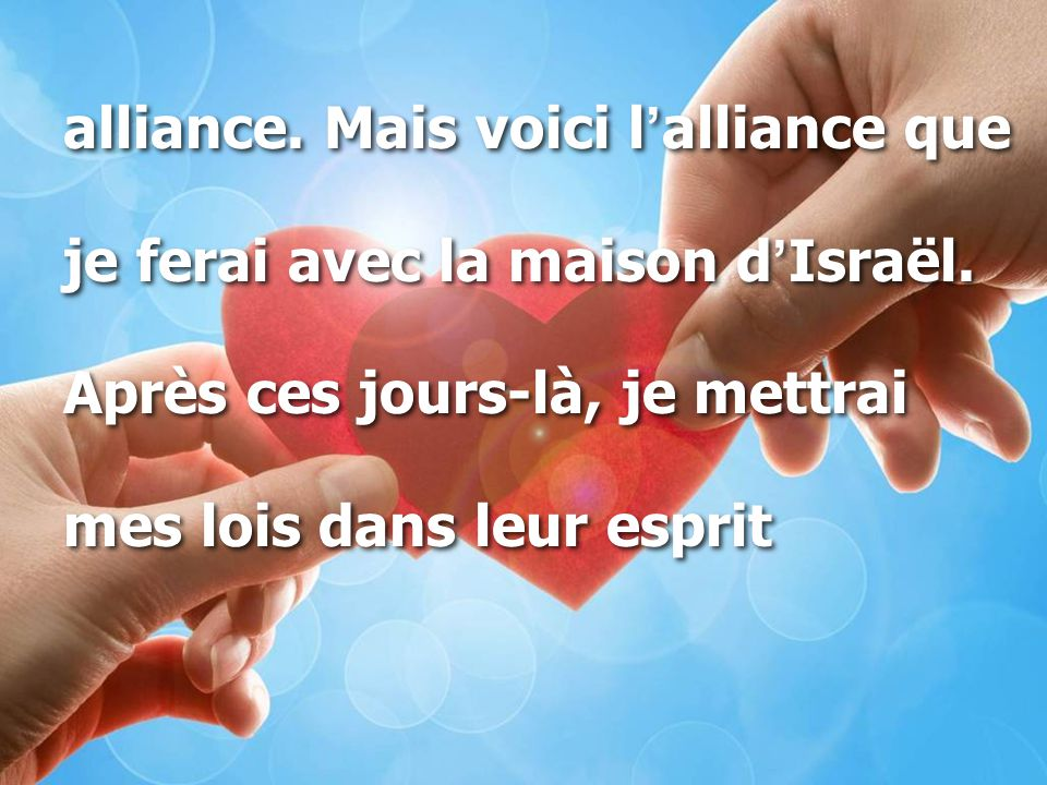 alliance. Mais voici l'alliance que