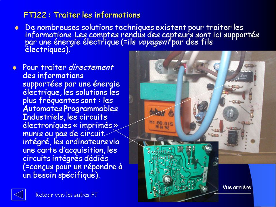 FT122 : Traiter les informations