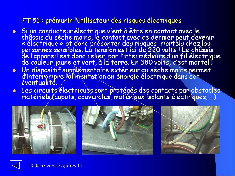 FT 51 : prémunir l'utilisateur des risques électriques