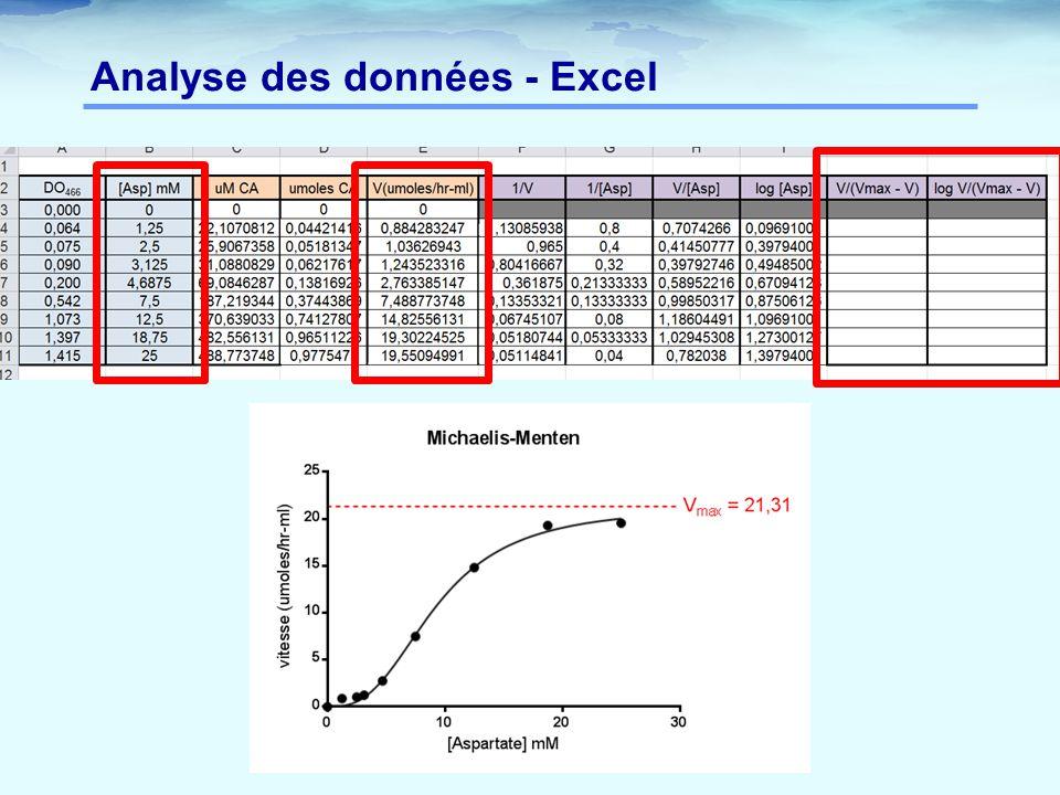 Analyse des données - Excel
