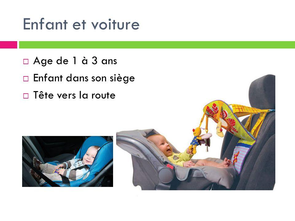 Enfant et voiture Age de 1 à 3 ans Enfant dans son siège