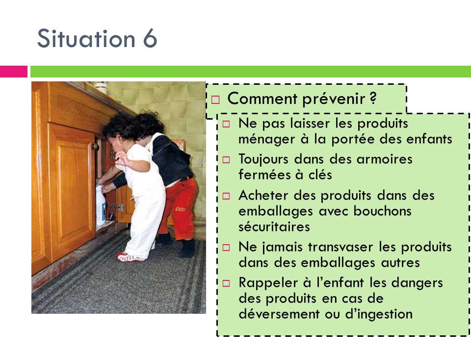 Situation 6 Comment prévenir