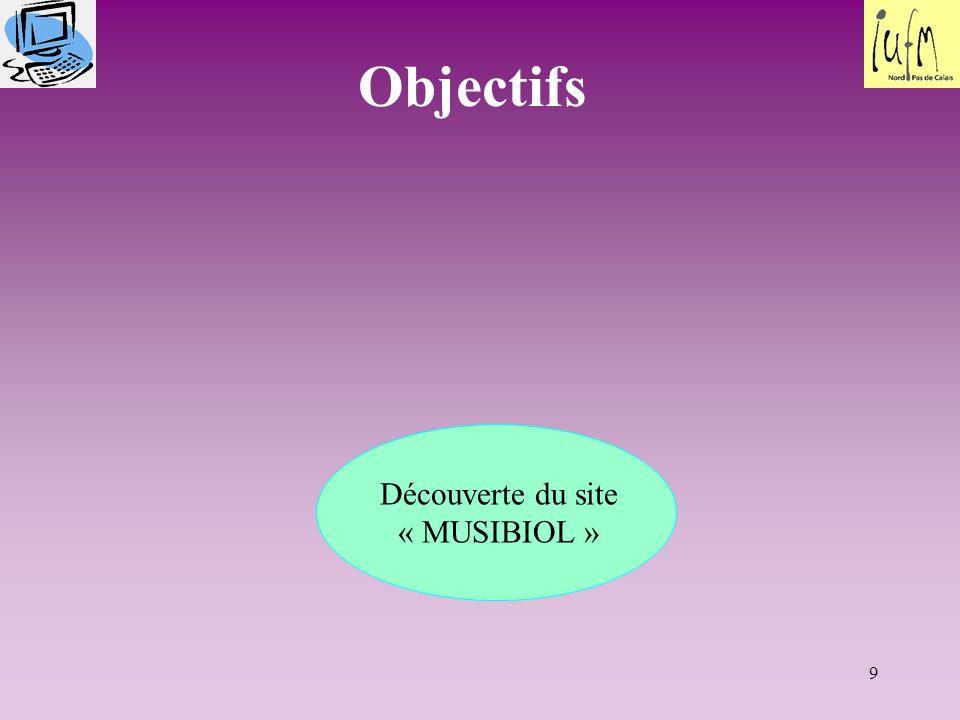 Découverte du site « MUSIBIOL »